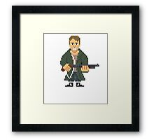 Kyle Reese - Terminator Pixel Art Framed Print