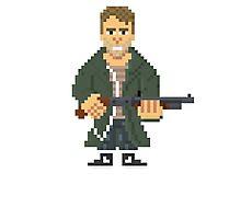 Kyle Reese - Terminator Pixel Art Photographic Print