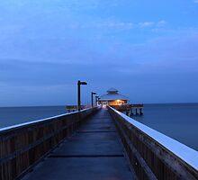 pier at dawn by kathy s gillentine