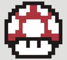 8-Bit Mario Mushroom (Red) by L- M-K