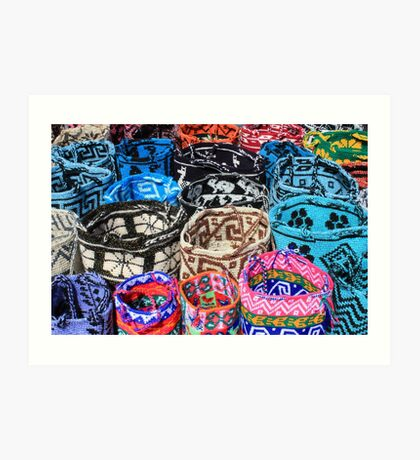 Bright Knit Bags Art Print