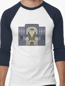 Doug Quaid - Total Recall Pixel Art Men's Baseball ¾ T-Shirt