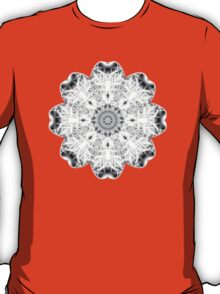 """Spirit of India: Fleur"" in white, grey and black T-Shirt"