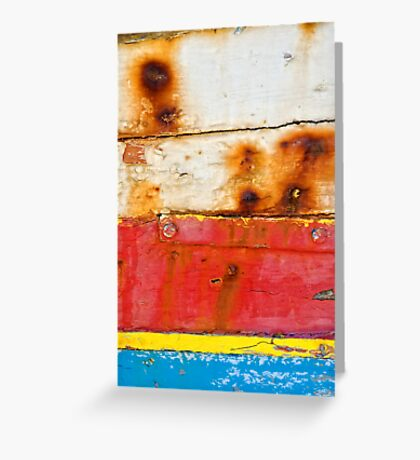 A boat's dacaying wood I Greeting Card
