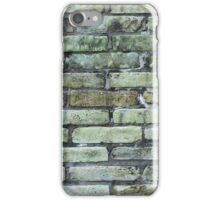 Green and Gray Brick Wall iPhone Case/Skin