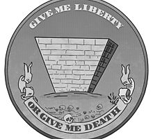 Give me liberty of give me death conspiracy illuminati pyramid by Dopealicious