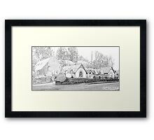 Chequers Hotel Framed Print