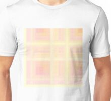 143. Rose-Pink Plaid Unisex T-Shirt