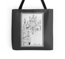Italy- An early Pen and Ink of the Cathedral Facade in Siena Tote Bag