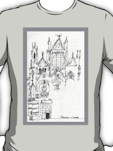 Italy- An early Pen and Ink of the Cathedral Facade in Siena T-Shirt