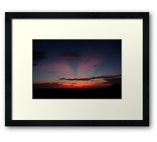 Waking up to another day in paradise Framed Print