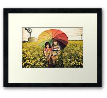 you promised me sunshine Framed Print