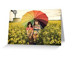 you promised me sunshine Greeting Card