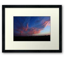 rain clouds Framed Print