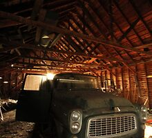 old car, old barn by MissCarly