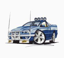 Ford Falcon XR8 Ute Blue Kids Tee