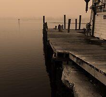 Foggy dock by kathy s gillentine