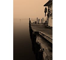 Foggy dock Photographic Print