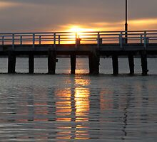 Sunset - Port Melbourne by Ruth Durose