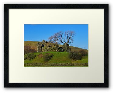 Pendragon Castle Ruins by Trevor Kersley