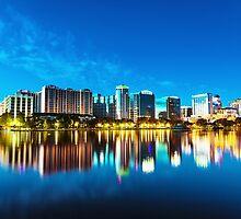 Orlando Skyline at Twilight by giof