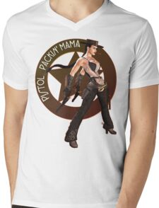 Pistol Packin' Mama (spicy) Mens V-Neck T-Shirt