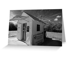 Smallest Post Office in the United States Greeting Card