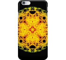 """""""Spirit of India: Cross-Column - Circle"""" in grass green and yellow iPhone Case/Skin"""