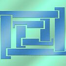 geometry blue-blue by fuxart