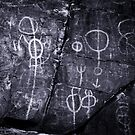 Petroglyphs - Chambers Gorge - Flinders Ranges - South Australia by Jeff Catford