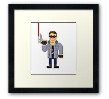 T800 - Terminator Pixel Art Framed Print