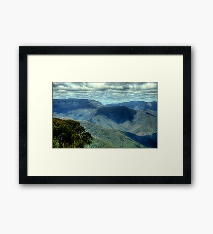 Where Mountain Ash and Kurrajong Grew Wide - High Country - The HDR Experience Framed Print