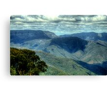 Where Mountain Ash and Kurrajong Grew Wide - High Country - The HDR Experience Canvas Print