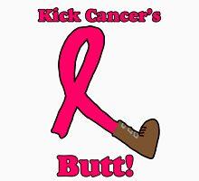 Kick Cancer's Butt!  Womens Fitted T-Shirt