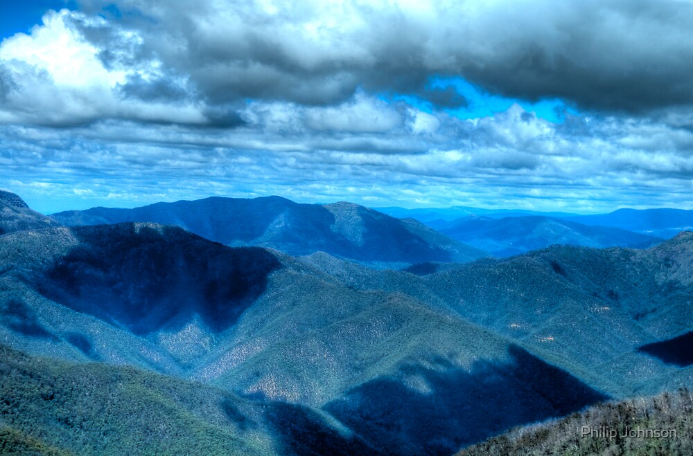 """""""He hails from Snowy River, up by Kosciusko's side - Victorian Alps Summer -The HDR Experience by Philip Johnson"""