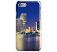 Miami Skyline at Night iPhone Case/Skin