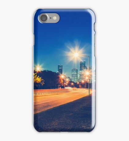 Driving in Houston at Night iPhone Case/Skin