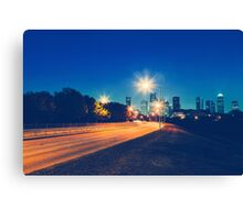 Driving in Houston at Night Canvas Print