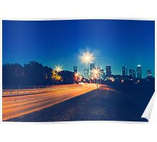 Driving in Houston at Night Poster