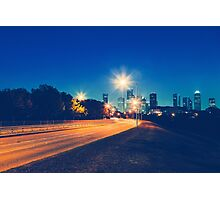 Driving in Houston at Night Photographic Print
