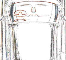 Porsche Cayman Overhead Sticker