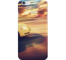 Taxi driving in the city iPhone Case/Skin