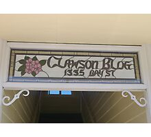 Clawson Blog in Florence, Oregon Photographic Print