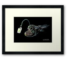 Angler with a Lamp Framed Print