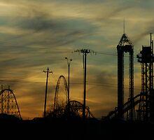 High Ride At Sunset by Sharon Elliott-Thomas