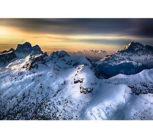 Mountain landscape in Winter Photographic Print
