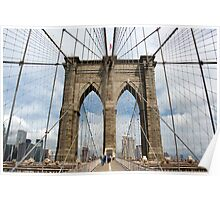 Brooklyn Bridge, Manhattan, New York, USA Poster