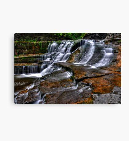 Ithaca's Treman Falls IV HDR Canvas Print