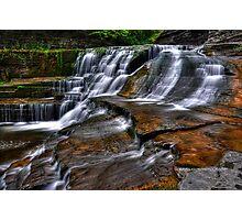 Ithaca's Treman Falls IV HDR Photographic Print