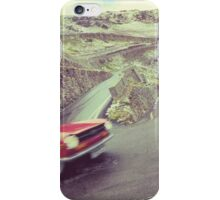 Retro car driving in the mountain iPhone Case/Skin